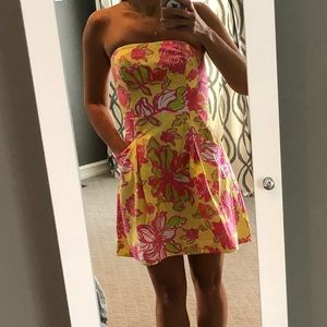 Lilly Pulitzer Strapless Size 4 Dress